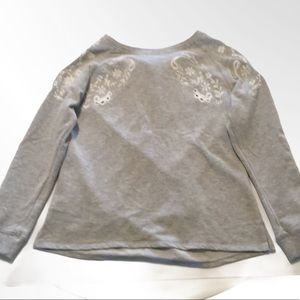 Dress Barn Embroidered Long Sleeve Top